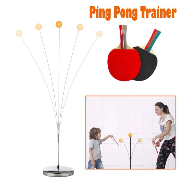 Portable Ping Pong Trainer/Table Tennis Self Training Set