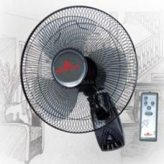 Bright Wall Fan With Remote/16 Inches