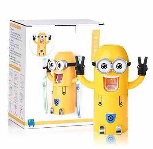 Minion Automatic Toothpaste Dispenser/Toothbrush Holder