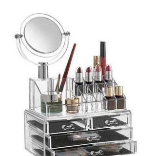 Makeup/Jewelry/Cosmetic Organizer with Mirror