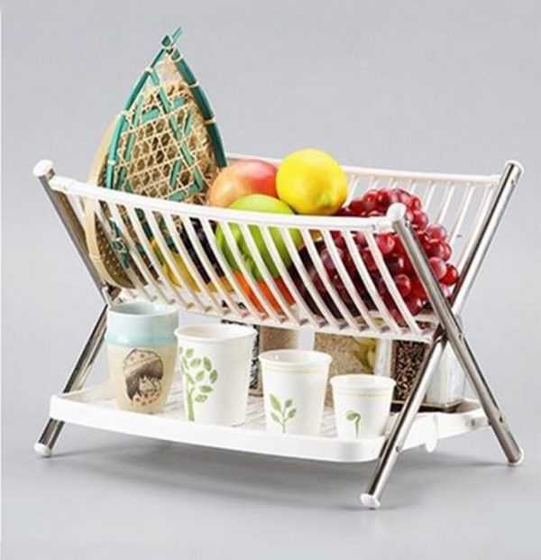Multi-Function Kitchen Folding Dish Rack/2 Layer