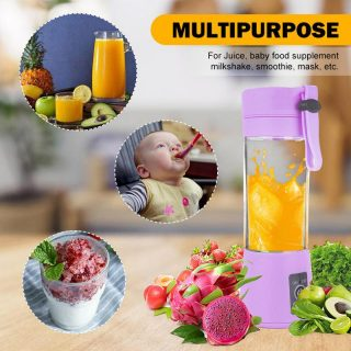 Portable and Rechargeable Battery juicer Blender
