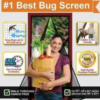 Anti Mosquito Magnetic Fasten Magic Mesh Door Curtain