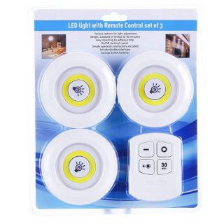 Emergency LED lights with remote control