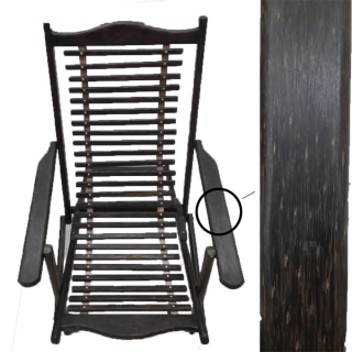 Folding Relaxing Chair with Arms Rest/Kithul Wood