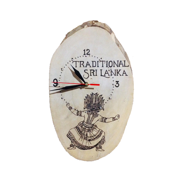 Wooden Burn Design/Dancer with Clock
