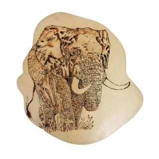 Wooden Burn Design/Elephant/Eco friendly