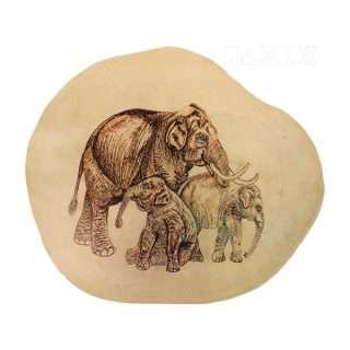 Wooden Burn Design/Elephants/Eco friendly
