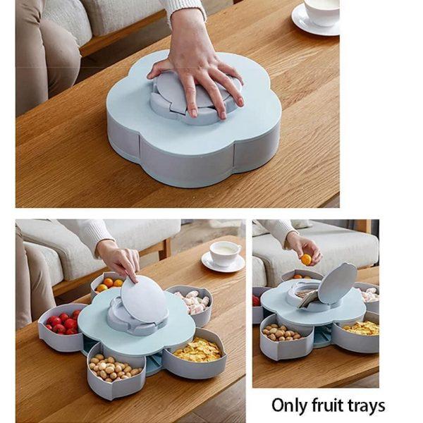 Rotatable Flower Petal Snacks/Candy Box Organizer