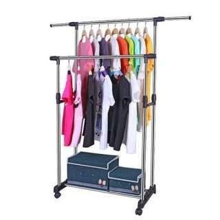 Double Pole Cloth Rack