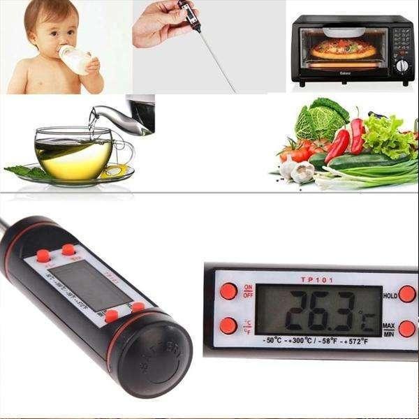 Digital Food Thermometer/Stainless Steel sensor probe