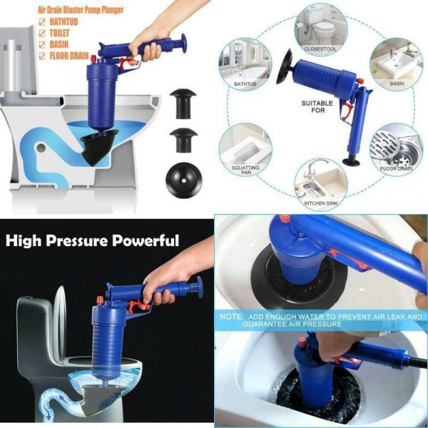 Air Drain Toilet Clog Remover Blaster Pump Plunger