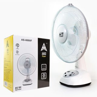 Aiko Portable Rechargeable Table Fan with USB