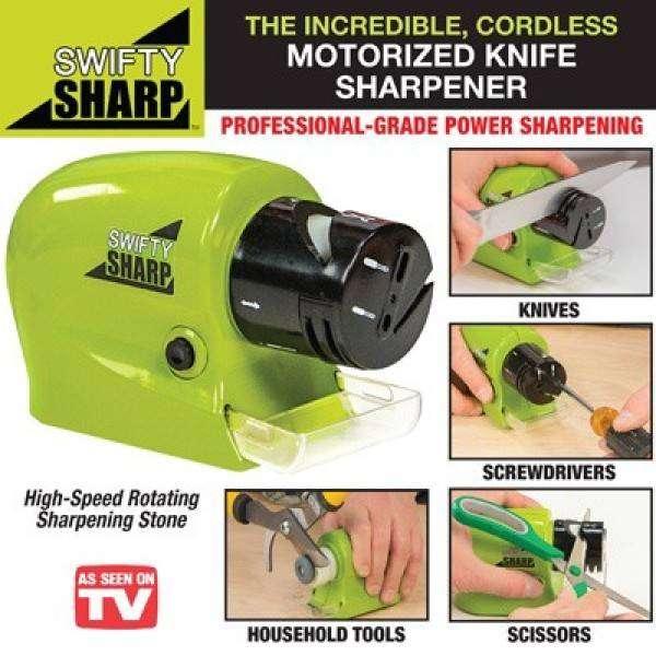 Motorized Cordless Swifty Knife Sharpener