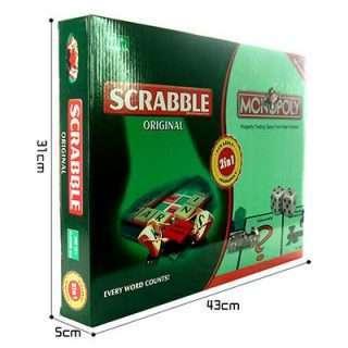 2 In 1 Scrabble/Monopoly/Board Games