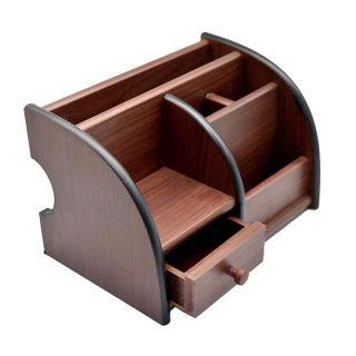 Wooden Pen Holder Desk Organizer Stationery Holder 1